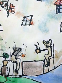 Vytvořili předškoláci v našem výtvarném studiu. Studios, Snoopy, Calligraphy, Painting, Fictional Characters, Lettering, Painting Art, Studio, Paintings