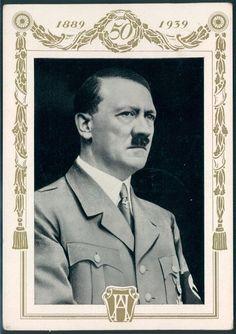 3rd Reich Hitler Portrait Postcard Used in 1939 Czechoslovakia