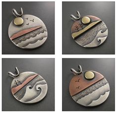 Silver Earrings Clip On Code: 2370343507 Mixed Metal Jewelry, Metal Clay Jewelry, Metal Necklaces, Copper Jewelry, Polymer Clay Jewelry, Polymer Clay Painting, Copper Work, Soldering Jewelry, Jewelry Logo