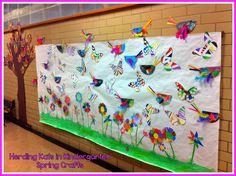 Spring Crafts Bulletin Board