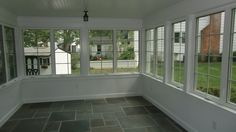 Interior porch conversion, allowing a family to use a porch all year long. Chatham, NJ