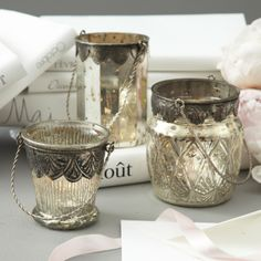 Mercury Glass Latern Candleholder | Elementarie