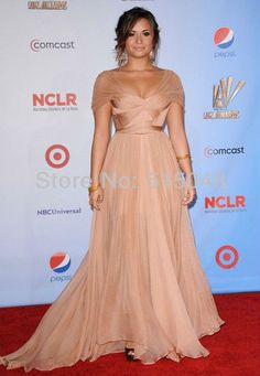 Free Shipping Demi Lovato Formal Celebrity Dress Cap Sleeve Ruffle Chiffon Evening Dress on AliExpress.com. 15% off $132.50