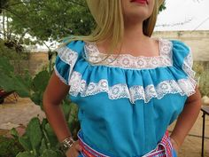 Check out this item in my Etsy shop https://www.etsy.com/listing/510131350/mexican-turquoise-cotton-folklorico
