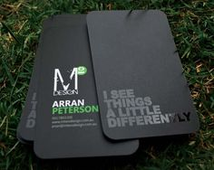 Black Business Card Designs Inspiration