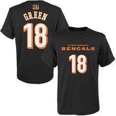 Youth Cincinnati Bengals AJ Green Orange Mainliner Name & Number T-Shirt