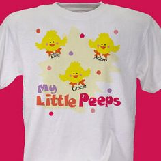 Little Peeps Personalized Easter T-Shirt #easter #giftideas #tshirt