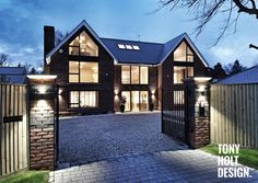 Home exterior design mansion house 4 bedroom simple modern residential residential interior unit design modern extension reshaping a confusingTony Holt Design Self Build SVilla Style House Traditional Exterior Manchester By. Modern House Plans, Modern House Design, Style At Home, Self Build Houses, Luxury Homes Dream Houses, Dream House Exterior, House Extensions, House Entrance, House Goals