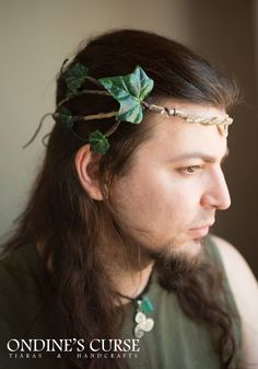 Oberon  Tiara circlet garland wreath ivy flower por OndinesCurse, €42.00 wedding flower crown celtic medieval boho woodland