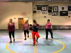 """Basement Zumba Crew performing Rihanna's """"Shut Up and Drive"""", led by Gina Smith.    We do not own this song. NO COPYRIGHT INFRINGEMENT IS INTENDED."""