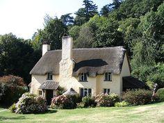 Beautiful English cottage in the sun. Selworthy