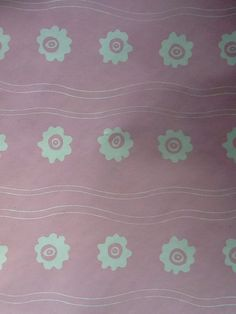 Rare Laura Ashley Wallpaper Pink Flowers Vintage almost 4 yards 1980s Bloomsbury