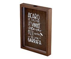 Quadro Porta-Rolhas Salvar Um Vinho - 22X31cm