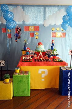 Boutique Festas: Mario Bros