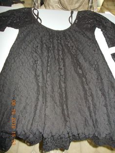 "New Lucy Love Off-the-Shoulder Black"" Lace Hollie""  Dress (M) Made USA #LucyLove #Sexy #LittleBlackDress"