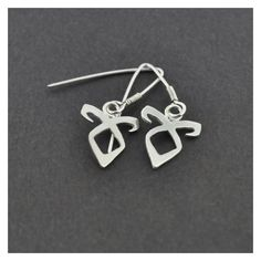Items similar to Angelic Power Rune Earrings on Etsy ❤ liked on Polyvore featuring jewelry, earrings and earring jewelry