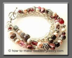I love the colors and randomness in this piece. This site has great jewelry tutorials!