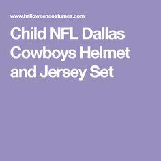 9efcb4565 Child NFL Dallas Cowboys Helmet and Jersey Costume Set