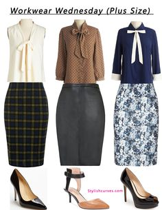 Blog Update: It's Workwear Wednesday! Today we show you how to create an easy workwear look with just 3 simple pieces.  Click link below to see more workwear looks http://stylishcurves.com/workwear-wednesday-tie-neck-blouses-and-pencil-skirt-make-for-a-chic-office-ensemble-plus-size-style/