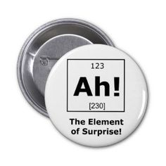 Ah! The Element of Surprise! Pinback Button