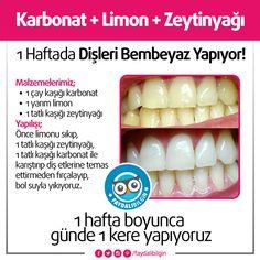1 Haftada Dişleri Bembeyaz Yapan Tarif! @faydalibilgin