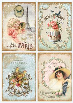 Products for decoupage: napkins for decoupage, decoupage blanks. Decor - art flower shop PARIS