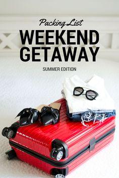 How To Pack For A Weekend Getaway - packing list & tips! www.kristjaana.com