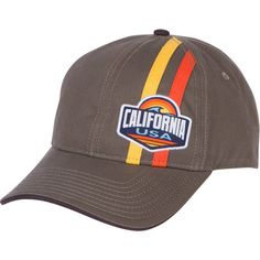 California USA Racing Stripe Baseball Cap - Grey