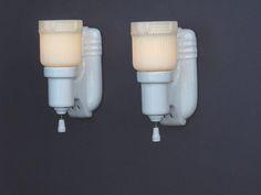 Antique Bathroom Light Fixtures typical 1920s / 1930s white porcelain bath or kitchen fixture with