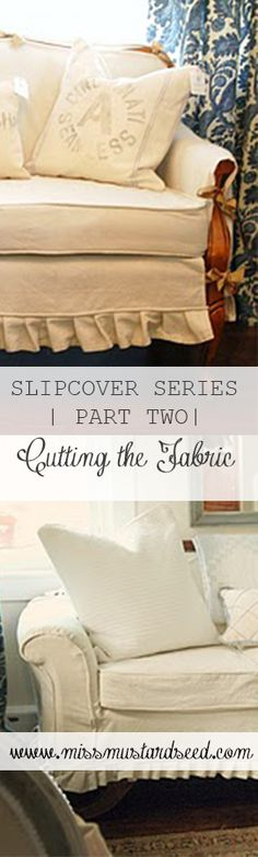 MISS MUSTARD SEED | slipcover part 2