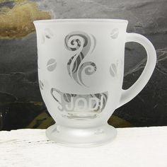 Personalized Coffee Mug Custom Etched 16 oz by BeedazzledDesigns