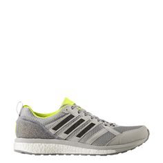 52e295f8e3f Adidas Men's Adizero Tempo 9 - Grey Two/Core Black/Solar Yellow (BA8237)