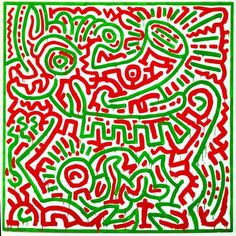 "Keith Haring, ""Untitled"", 27 mai 1984. 238,8 x 238,8 cm."