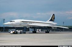 The Singapore Airlines liveried Concorde