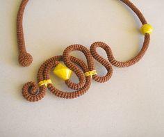 Crochet Tube Necklace Free-form Versatile