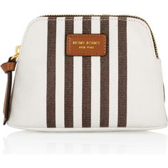 Henri Bendel Small Canvas Dopp Kit (€26) ❤ liked on Polyvore featuring beauty products, beauty accessories, bags & cases, chipmunk and henri bendel