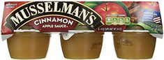 Musselmans Cinnamon Apple Sauce 4 Ounce  18 per pack  1 each ** For more information, visit image link. (This is an affiliate link) #Fruitsaucecups