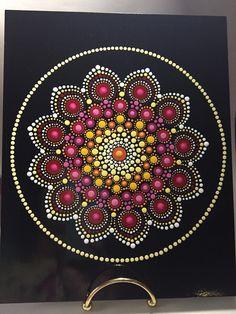 Hand Painted Mandala on an Artist Panel, Meditation Mandala, Healing, Calming, #478 by MafaStones on Etsy