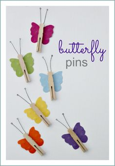 10 Spring Butterfly Crafts for Kids Paper Plate Crafts, Craft Stick Crafts, Fun Crafts, Crafts For Kids, Arts And Crafts, Clothespin Crafts, Daycare Crafts, Toddler Crafts, Spring Projects