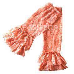 Ruffle Lace Leg Warmers - Newborn Baby Infant Girls Toddler (Peach) $7