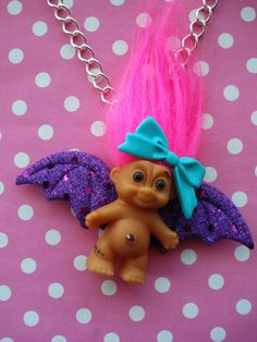 Cute Troll Doll Necklace