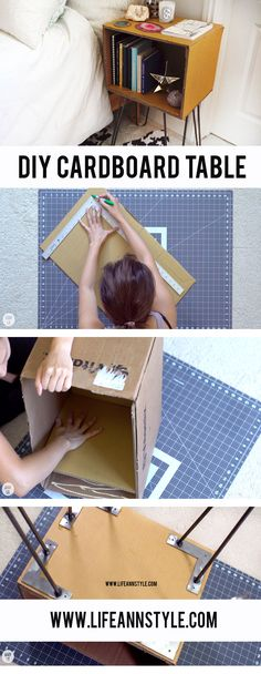 DIY Cardboard Night Stand | End Table | Home / Room Decor