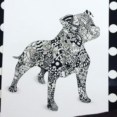 Zentangle Staffy (Google search) Dog Tattoos, Animal Tattoos, English Staffordshire Bull Terrier, American Staffordshire, Staffy Dog, Animal Coloring Pages, Dog Quotes, Doodle Art, Cute Drawings