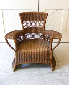 Arts and Crafts -a child's chair in woven wicker.  By Dryad  Circa 1910