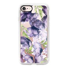 Watercolor Ink Florals V2 Phone Case - iPhone 7 Case, iPhone 7 Plus... ($40) ❤ liked on Polyvore featuring accessories, tech accessories and android case