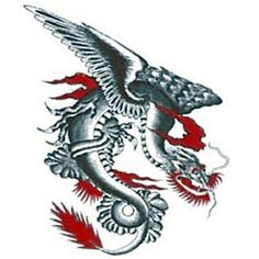 This removable Dragon Tattoo is perfect for costume parties and fooling your friends. Fake Tattoos, Tatoos, Dragon Tattoos, Cryptozoology, Tattoo Designs, Tattoo Ideas, I Tattoo, Tatting, Ink