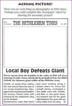crafty catholic mum: David and Goliath | Sunday School Ideas ...