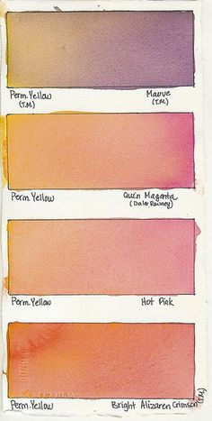 colourcharts:  Permanent Yellow + a Color by Tracee Murphy