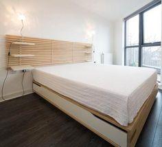 IKEA MANDAL kingsize bed frame + MANDAL headboard + mattress