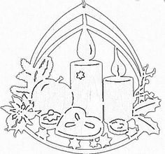 Kersthanger kaarsen